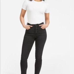 Everlane -Stretch High-Rise Skinny Button Fly